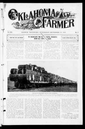 Primary view of object titled 'Oklahoma Farmer (Guthrie, Okla.), Vol. 18, No. 18, Ed. 1 Wednesday, September 29, 1909'.