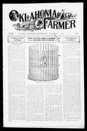 Primary view of object titled 'Oklahoma Farmer (Guthrie, Okla.), Vol. 18, No. 19, Ed. 1 Wednesday, October 6, 1909'.