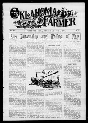 Primary view of object titled 'Oklahoma Farmer (Guthrie, Okla.), Vol. 19, No. 52, Ed. 1 Wednesday, June 1, 1910'.