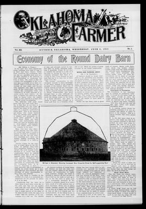 Primary view of object titled 'Oklahoma Farmer (Guthrie, Okla.), Vol. 20, No. 1, Ed. 1 Wednesday, June 8, 1910'.