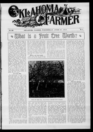 Primary view of object titled 'Oklahoma Farmer (Guthrie, Okla.), Vol. 20, No. 3, Ed. 1 Wednesday, June 22, 1910'.