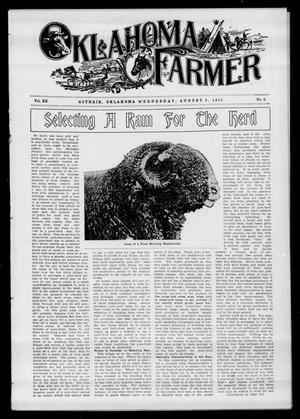 Primary view of object titled 'Oklahoma Farmer (Guthrie, Okla.), Vol. 20, No. 9, Ed. 1 Wednesday, August 3, 1910'.