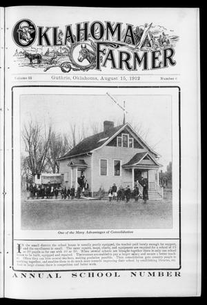 Primary view of object titled 'Oklahoma Farmer (Guthrie, Okla.), Vol. 22, No. 8, Ed. 1 Thursday, August 15, 1912'.