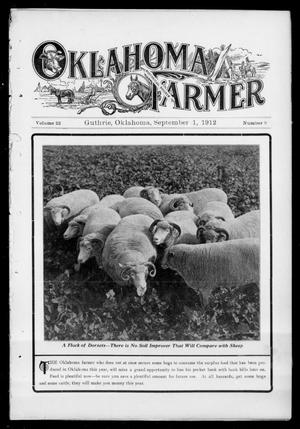 Primary view of object titled 'Oklahoma Farmer (Guthrie, Okla.), Vol. 22, No. 9, Ed. 1 Sunday, September 1, 1912'.
