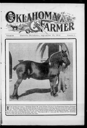 Primary view of object titled 'Oklahoma Farmer (Guthrie, Okla.), Vol. 22, No. 10, Ed. 1 Sunday, September 15, 1912'.