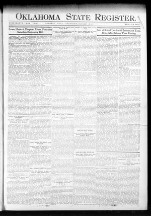 Primary view of object titled 'Oklahoma State Register. (Guthrie, Okla.), Vol. 19, No. 45, Ed. 1 Thursday, February 16, 1911'.