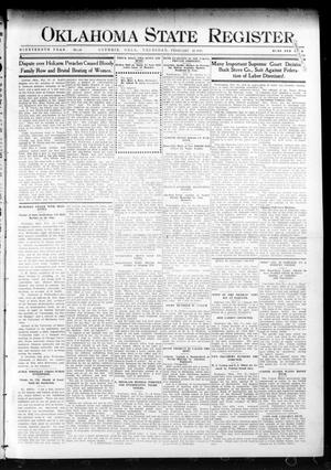 Primary view of object titled 'Oklahoma State Register. (Guthrie, Okla.), Vol. 19, No. 46, Ed. 1 Thursday, February 23, 1911'.