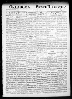 Primary view of object titled 'Oklahoma State Register. (Guthrie, Okla.), Vol. 19, No. 47, Ed. 1 Thursday, March 2, 1911'.