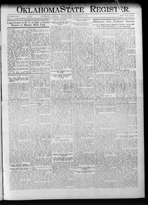 Primary view of object titled 'Oklahoma State Register. (Guthrie, Okla.), Vol. 20, No. 24, Ed. 1 Thursday, September 21, 1911'.