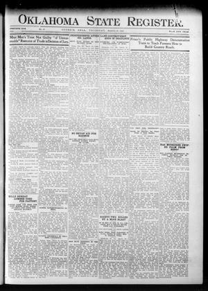 Primary view of object titled 'Oklahoma State Register. (Guthrie, Okla.), Vol. 20, No. 46, Ed. 1 Thursday, March 28, 1912'.
