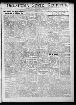 Primary view of object titled 'Oklahoma State Register. (Guthrie, Okla.), Vol. 21, No. 19, Ed. 1 Thursday, September 19, 1912'.