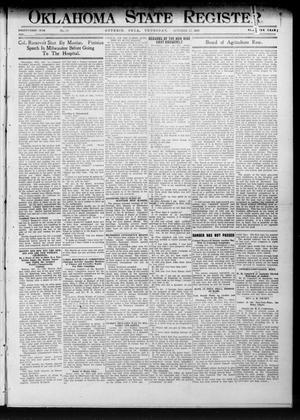 Primary view of object titled 'Oklahoma State Register. (Guthrie, Okla.), Vol. 21, No. 23, Ed. 1 Thursday, October 17, 1912'.