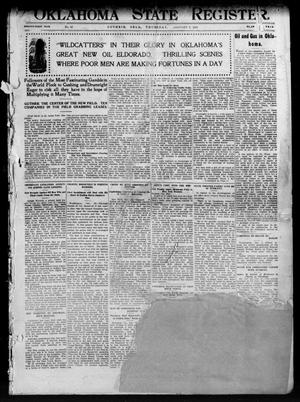 Primary view of object titled 'Oklahoma State Register. (Guthrie, Okla.), Vol. 21, No. 33, Ed. 1 Thursday, January 2, 1913'.