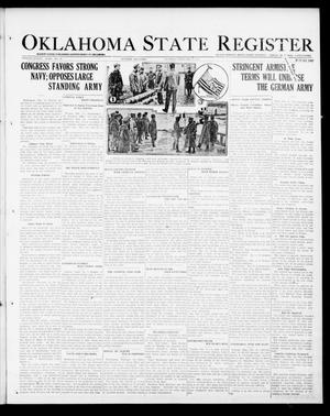Primary view of object titled 'Oklahoma State Register (Guthrie, Okla.), Vol. 28, No. 42, Ed. 1 Thursday, February 13, 1919'.