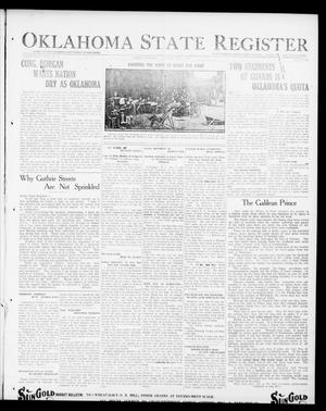 Primary view of object titled 'Oklahoma State Register (Guthrie, Okla.), Vol. 29, No. 12, Ed. 1 Thursday, July 17, 1919'.