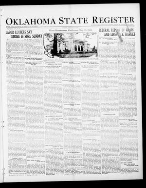 Primary view of object titled 'Oklahoma State Register (Guthrie, Okla.), Vol. 30, No. 26, Ed. 1 Thursday, October 27, 1921'.