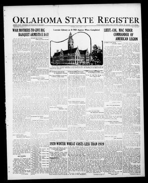 Primary view of object titled 'Oklahoma State Register (Guthrie, Okla.), Vol. 30, No. 27, Ed. 1 Thursday, November 3, 1921'.