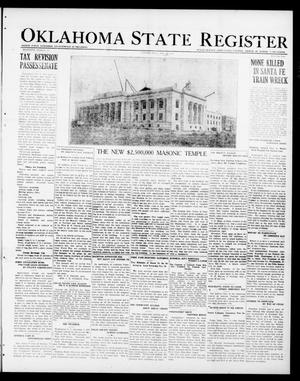 Primary view of object titled 'Oklahoma State Register (Guthrie, Okla.), Vol. 30, No. 22, Ed. 1 Thursday, November 10, 1921'.