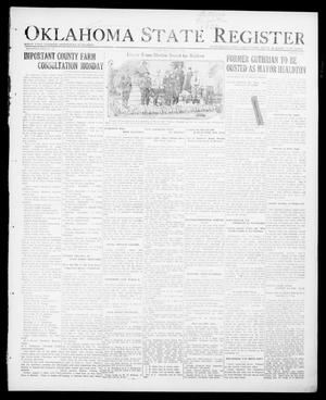 Primary view of object titled 'Oklahoma State Register (Guthrie, Okla.), Vol. 30, No. 30, Ed. 1 Thursday, January 5, 1922'.
