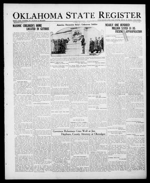 Primary view of object titled 'Oklahoma State Register (Guthrie, Okla.), Vol. 30, No. 38, Ed. 1 Thursday, March 2, 1922'.