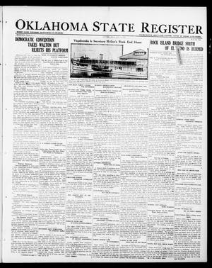 Primary view of object titled 'Oklahoma State Register (Guthrie, Okla.), Vol. 30, No. 15, Ed. 1 Thursday, August 17, 1922'.
