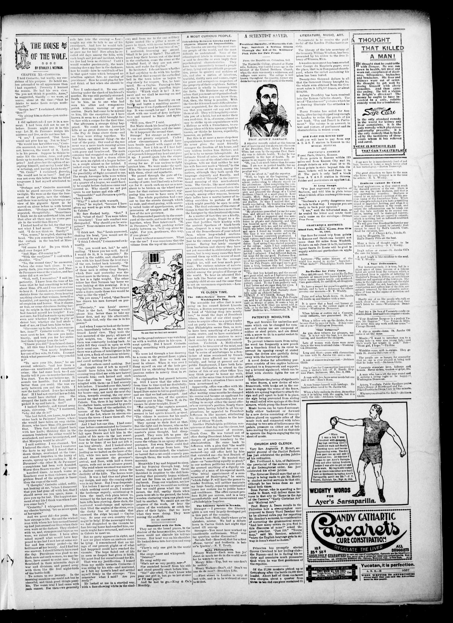 The Hennessey Kicker. (Hennessey, Okla.), Vol. 3, No. 102, Ed. 1 Saturday, May 22, 1897                                                                                                      [Sequence #]: 3 of 4