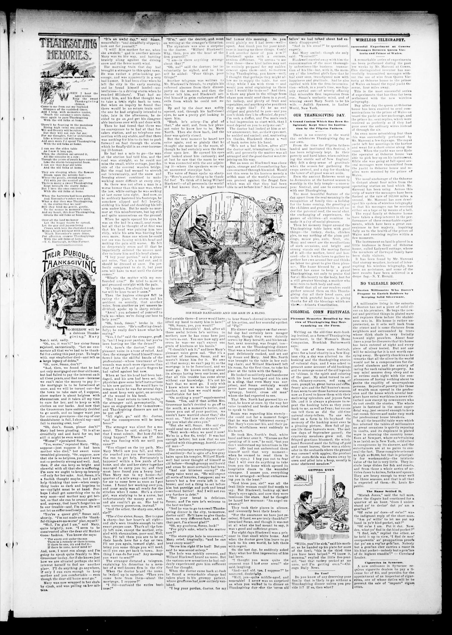 The Hennessey Kicker. (Hennessey, Okla.), Vol. 3, No. 197, Ed. 1 Saturday, November 26, 1898                                                                                                      [Sequence #]: 3 of 8