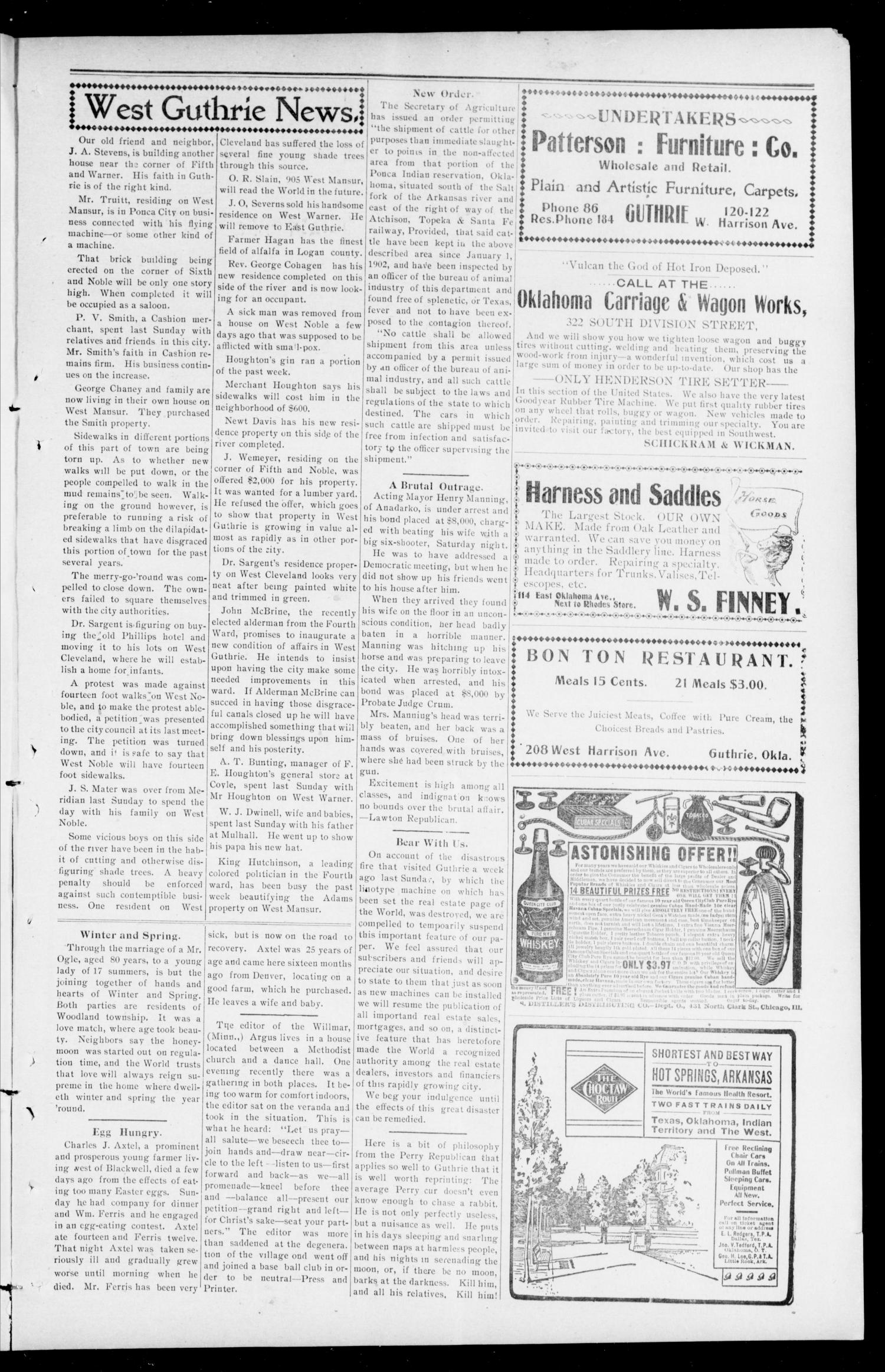 The Southwest World (Guthrie, Okla.), Vol. 3, No. 7, Ed. 1 Saturday, April 12, 1902                                                                                                      [Sequence #]: 3 of 8