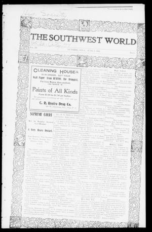 Primary view of object titled 'The Southwest World (Guthrie, Okla.), Vol. 3, No. 15, Ed. 1 Saturday, June 7, 1902'.