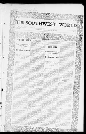 Primary view of object titled 'The Southwest World (Guthrie, Okla.), Vol. 3, No. 26, Ed. 1 Saturday, August 23, 1902'.