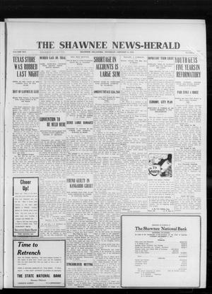 Primary view of object titled 'The Shawnee News-Herald (Shawnee, Okla.), Vol. 16, No. 149, Ed. 1 Thursday, January 11, 1912'.