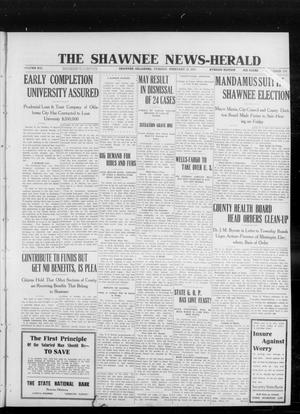 Primary view of object titled 'The Shawnee News-Herald (Shawnee, Okla.), Vol. 16, No. 177, Ed. 1 Tuesday, February 13, 1912'.