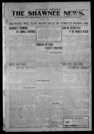 Primary view of object titled 'The Shawnee News. (Shawnee, Okla.), Vol. 9, No. 177, Ed. 1 Tuesday, January 2, 1906'.
