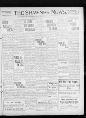 Primary view of object titled 'The Shawnee News. (Shawnee, Okla.), Vol. 14, No. 233, Ed. 1 Tuesday, August 17, 1909'.