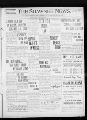 Primary view of object titled 'The Shawnee News. (Shawnee, Okla.), Vol. 14, No. 239, Ed. 1 Tuesday, August 24, 1909'.