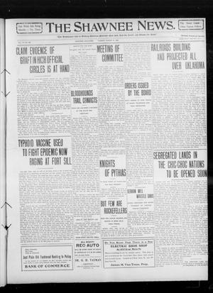 Primary view of object titled 'The Shawnee News. (Shawnee, Okla.), Vol. 14, No. 245, Ed. 1 Tuesday, August 31, 1909'.