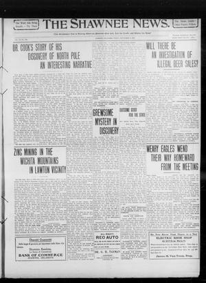 Primary view of object titled 'The Shawnee News. (Shawnee, Okla.), Vol. 14, No. 248, Ed. 1 Friday, September 3, 1909'.