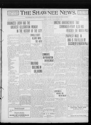 Primary view of object titled 'The Shawnee News. (Shawnee, Okla.), Vol. 14, No. 250, Ed. 1 Tuesday, September 7, 1909'.