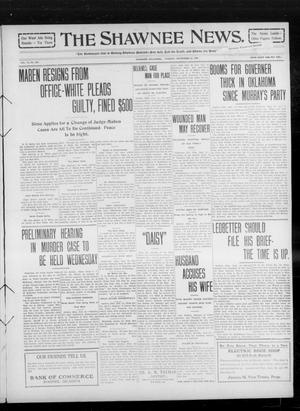 Primary view of object titled 'The Shawnee News. (Shawnee, Okla.), Vol. 14, No. 262, Ed. 1 Tuesday, September 21, 1909'.