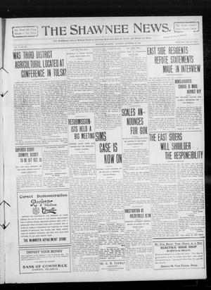 Primary view of object titled 'The Shawnee News. (Shawnee, Okla.), Vol. 14, No. 266, Ed. 1 Saturday, September 25, 1909'.