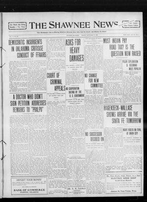 Primary view of object titled 'The Shawnee News. (Shawnee, Okla.), Vol. 14, No. 267, Ed. 1 Monday, September 27, 1909'.