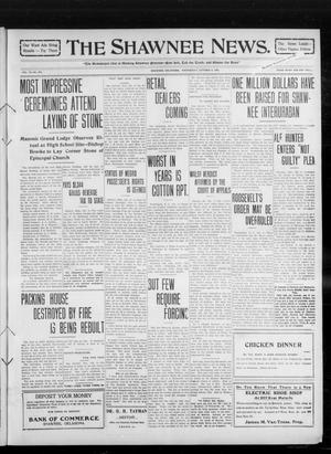 Primary view of object titled 'The Shawnee News. (Shawnee, Okla.), Vol. 14, No. 275, Ed. 1 Wednesday, October 6, 1909'.