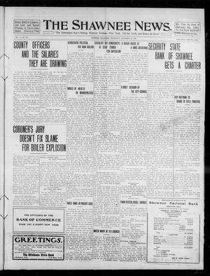 Primary view of object titled 'The Shawnee News. (Shawnee, Okla.), Vol. 14, No. 293, Ed. 1 Wednesday, December 29, 1909'.