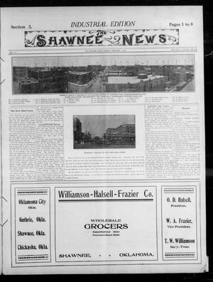 Primary view of object titled 'The Shawnee News. (Shawnee, Okla.), Vol. 14, No. 223, Ed. 3 Tuesday, February 1, 1910'.
