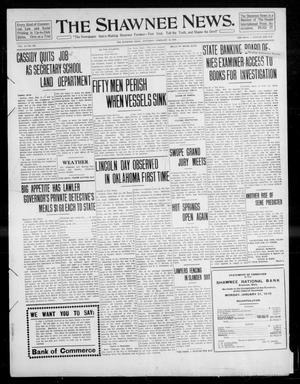 Primary view of object titled 'The Shawnee News. (Shawnee, Okla.), Vol. 14, No. 232, Ed. 1 Saturday, February 12, 1910'.