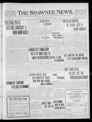 Primary view of object titled 'The Shawnee News. (Shawnee, Okla.), Vol. 14, No. 228, Ed. 1 Saturday, February 19, 1910'.