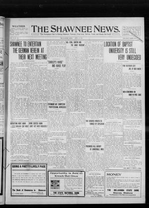 Primary view of object titled 'The Shawnee News. (Shawnee, Okla.), Vol. 14, No. 273, Ed. 1 Wednesday, April 13, 1910'.