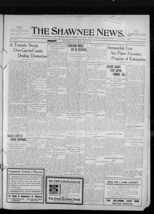 Primary view of object titled 'The Shawnee News. (Shawnee, Okla.), Vol. 14, No. 306, Ed. 1 Saturday, May 21, 1910'.