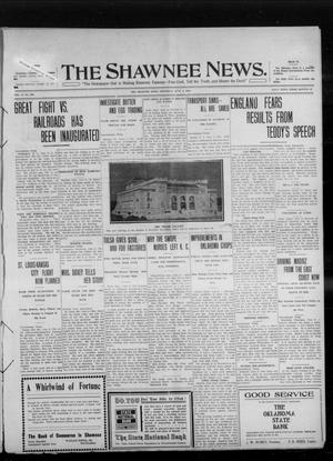 Primary view of object titled 'The Shawnee News. (Shawnee, Okla.), Vol. 14, No. 316, Ed. 1 Thursday, June 2, 1910'.