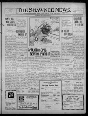Primary view of object titled 'The Shawnee News. (Shawnee, Okla.), Vol. 15, No. 67, Ed. 1 Tuesday, July 12, 1910'.